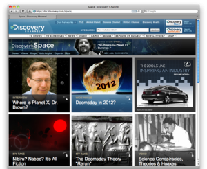 Screenshot of Discovery Communications