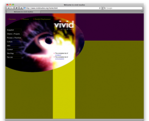 Screenshot of vivid Studios