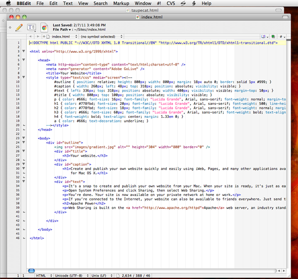 Stacked window arrangement in BBEdit 10.