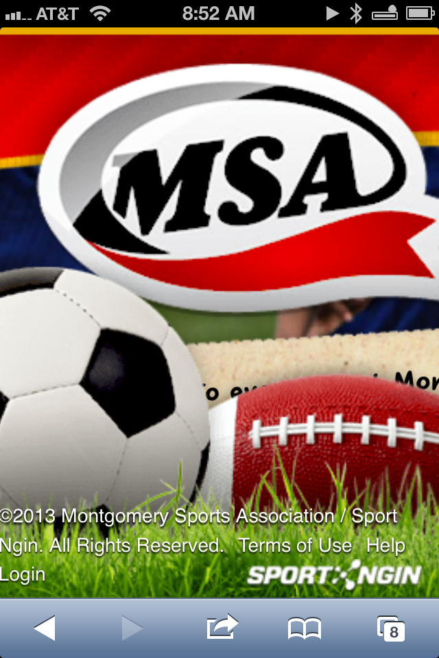 Screenshot of MSA's site on my iPhone, when it's zoomed in.